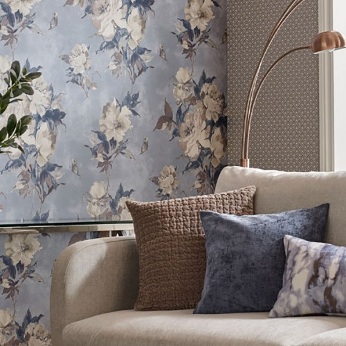 Обои 1838 Wallcoverings Camellia Madama Butterfly Denim 1703-108-04
