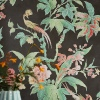 Обои Little Greene Archive Trails Paradise - Nightshade в интерьере