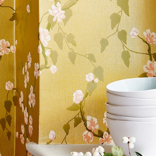 Обои Little Greene Archive Trails Sakura - Yellow Lustre 0247SAYELLO