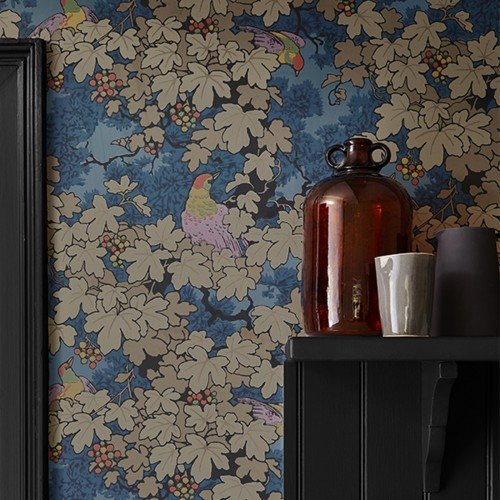 Обои Little Greene Archive Trails Vine - Bleu 0247VIBLEUZ