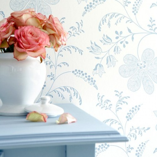 Обои Little Greene London Wallpapers II Bedford Square - Porcelain 0273BEPORCE