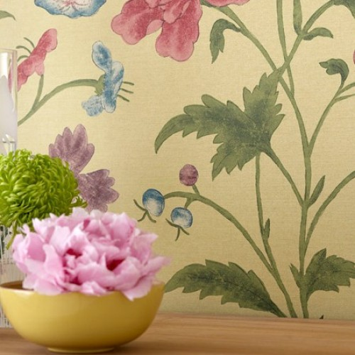 Обои Little Greene Archive Trails China Rose - Emerald Lustre 0275CHEMERA