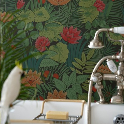 Обои Little Greene 20th Century Papers Reverie - Jungle 0280REJUNGL