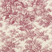 Обои Little Greene  Révolution Papers Stag Toile - Burgundy