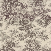 Обои Little Greene  Révolution Papers Stag Toile - Chocolat
