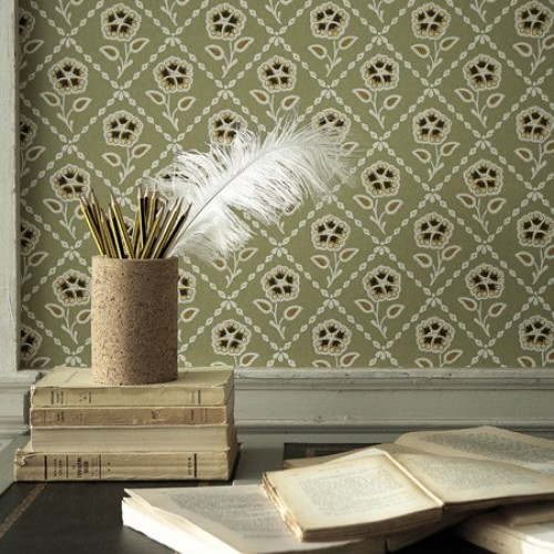Обои Little Greene Revolution Papers Whitehall - Moutarde 0284WHMOUTA