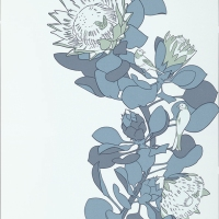 Обои Paint and Paper Library Tresco Protea Trail Blues 0393PTBLUES