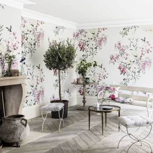Панно Sanderson Waterperry Wallpapers Magnolia & Blossom Panel 216305