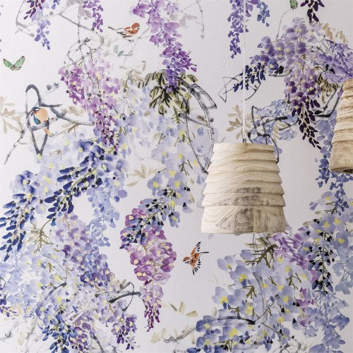 Панно Sanderson Waterperry Wallpapers Wisteria Falls Panel 216296