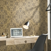 Обои York Mixed Materials Cork Infinity MM1735 в интерьере