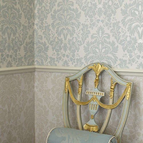 Обои Zoffany Classic Damask Wallpaper Alvescot Stockholm CDW07005
