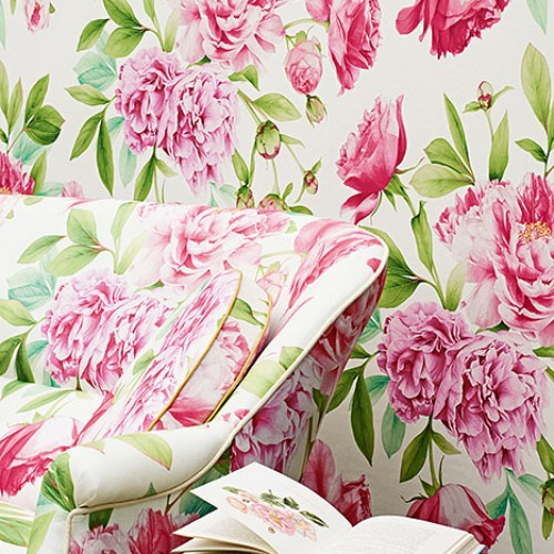 Обои Zoffany Woodville Papers Phoebe Peony/Leaf 311359