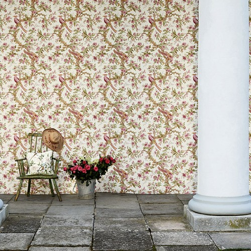 Обои Zoffany Woodville Papers Chintz Rose 311326