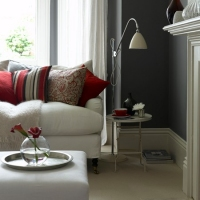 Краска Little Greene цвет Dark Lead Colour (118) в интерьере