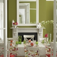 Краска Little Greene цвет Pale Lime (70) в интерьере