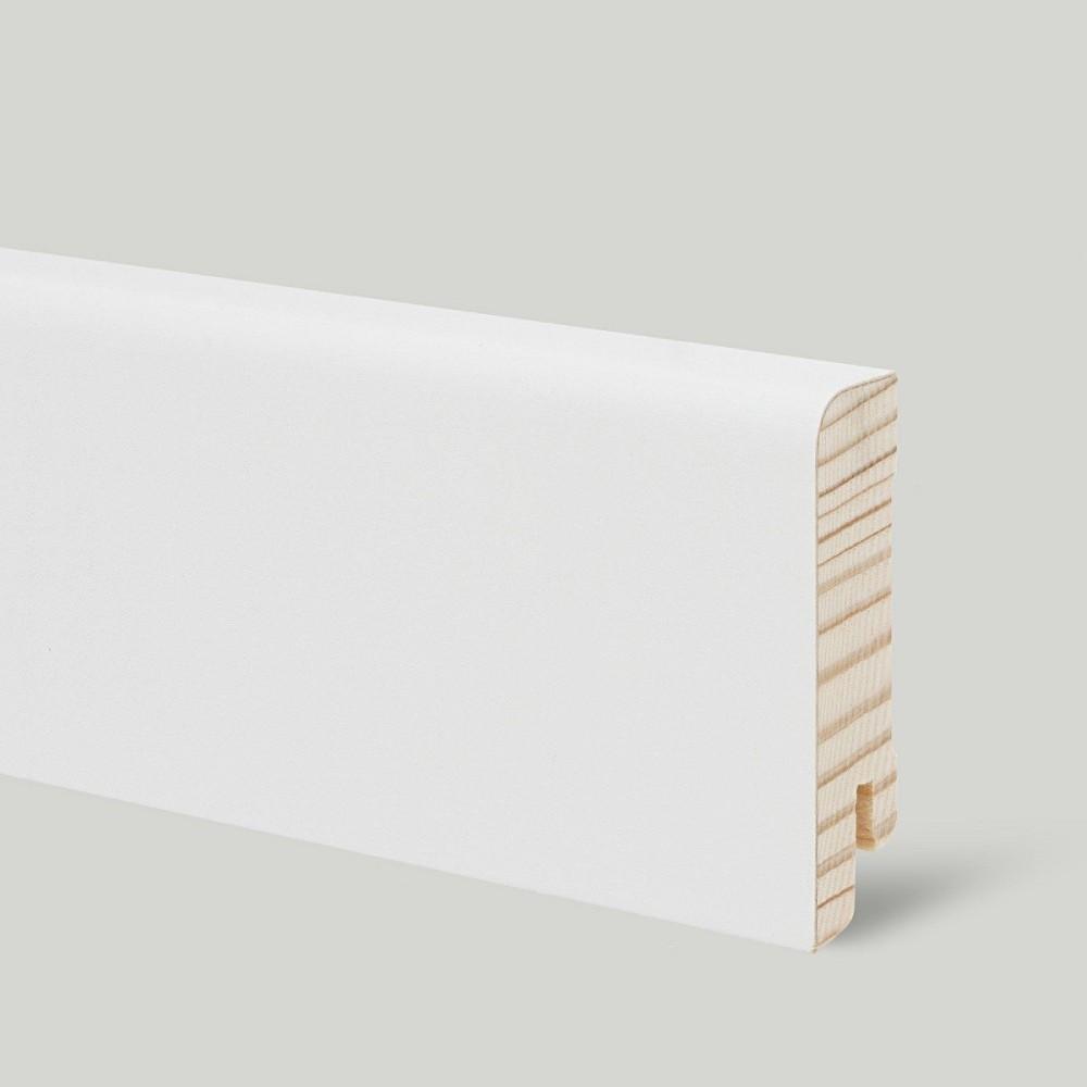 плинтус деревянный белый