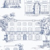 Обои Little Greene 20th Century Papers Hampstead - Mid Blue