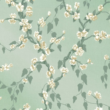 Обои Little Greene Archive Trails Sakura - Aqua Lustre