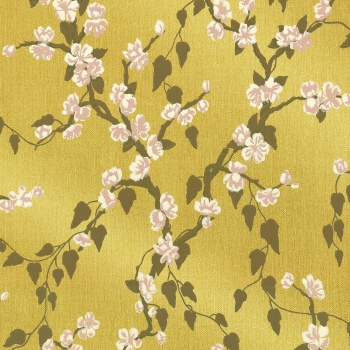 Обои Little Greene Archive Trails Sakura - Yellow Lustre