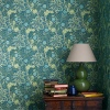 Обои Morris Archive Wallpapers III Morris Seaweed 214714 в интерьере