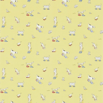 Обои Sanderson Abracazoo Wallpapers Dogs in Clogs 214012