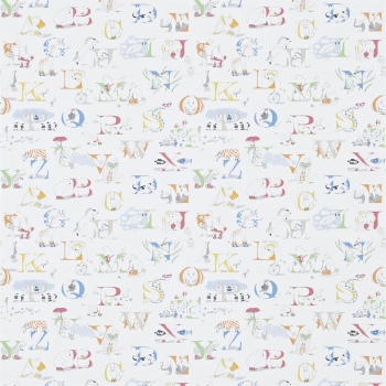 Обои Sanderson Abracazoo Wallpapers Alphabet Zoo 214026