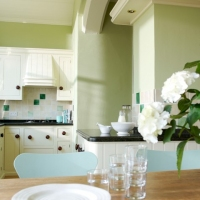 Краска Little Greene цвет Kitchen Green (85) в интерьере